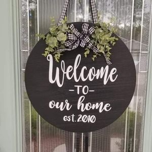Welcome Door Hanger / Personalized Door Hanger